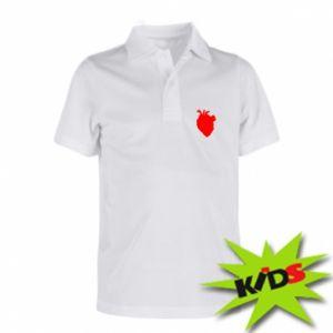 Koszulka polo dziecięca Heart abstraction