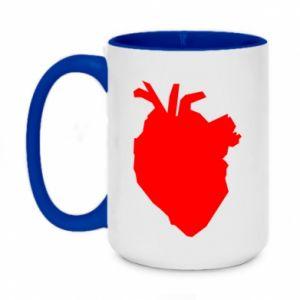 Kubek dwukolorowy 450ml Heart abstraction