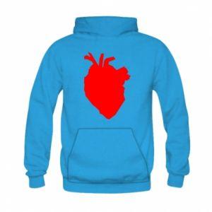 Bluza z kapturem dziecięca Heart abstraction