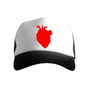 Czapka trucker dziecięca Heart abstraction