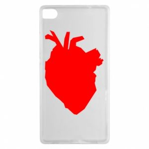 Etui na Huawei P8 Heart abstraction