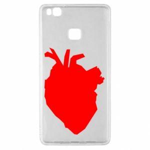 Etui na Huawei P9 Lite Heart abstraction