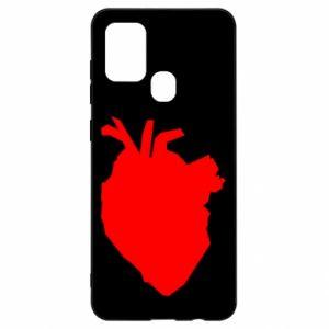 Etui na Samsung A21s Heart abstraction
