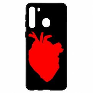 Etui na Samsung A21 Heart abstraction