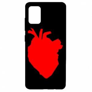 Etui na Samsung A51 Heart abstraction