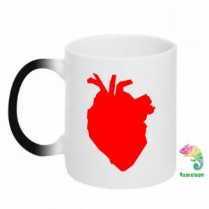Kubek-magiczny Heart abstraction
