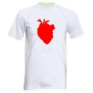 Koszulka sportowa męska Heart abstraction
