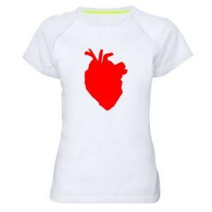 Koszulka sportowa damska Heart abstraction