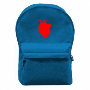 Plecak z przednią kieszenią Heart abstraction