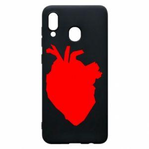Etui na Samsung A20 Heart abstraction