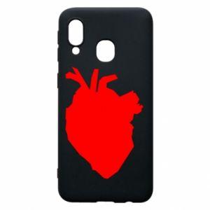 Etui na Samsung A40 Heart abstraction