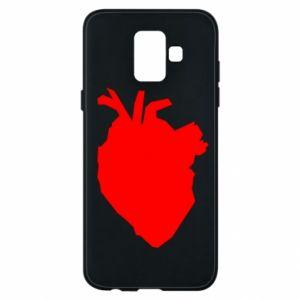 Etui na Samsung A6 2018 Heart abstraction