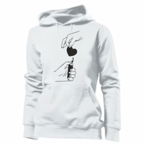 Women's hoodies Heart and lighter - PrintSalon