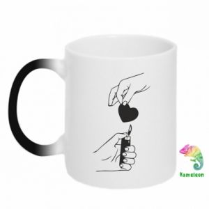 Chameleon mugs Heart and lighter - PrintSalon