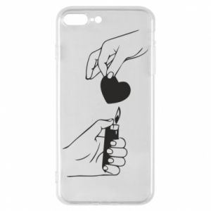 Phone case for iPhone 8 Plus Heart and lighter - PrintSalon