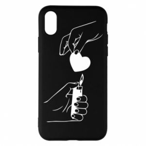 Phone case for iPhone X/Xs Heart and lighter - PrintSalon
