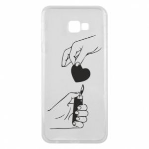 Phone case for Samsung J4 Plus 2018 Heart and lighter - PrintSalon