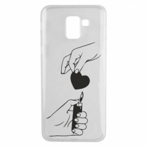 Phone case for Samsung J6 Heart and lighter - PrintSalon