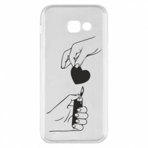 Phone case for Samsung A5 2017 Heart and lighter - PrintSalon