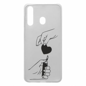 Phone case for Samsung A60 Heart and lighter - PrintSalon