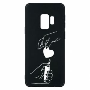 Phone case for Samsung S9 Heart and lighter - PrintSalon