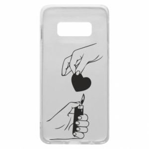 Phone case for Samsung S10e Heart and lighter - PrintSalon