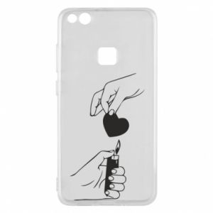 Phone case for Huawei P10 Lite Heart and lighter - PrintSalon