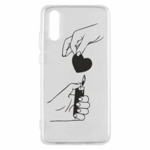 Phone case for Huawei P20 Heart and lighter - PrintSalon