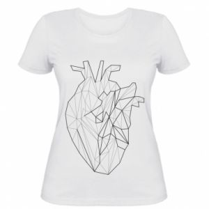 Damska koszulka Heart line