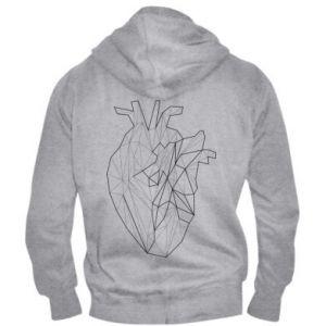 Męska bluza z kapturem na zamek Heart line