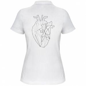 Damska koszulka polo Heart line