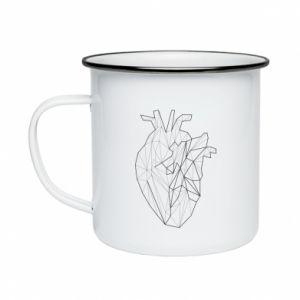Kubek emaliowane Heart line