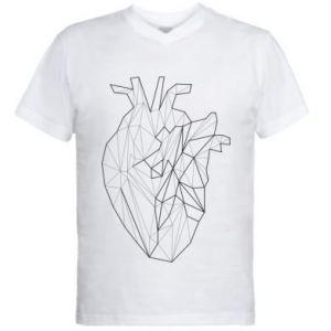 Męska koszulka V-neck Heart line