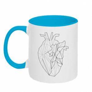 Kubek dwukolorowy Heart line