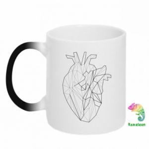 Kubek-kameleon Heart line