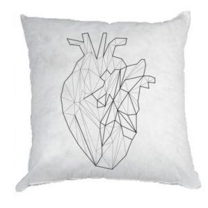 Poduszka Heart line