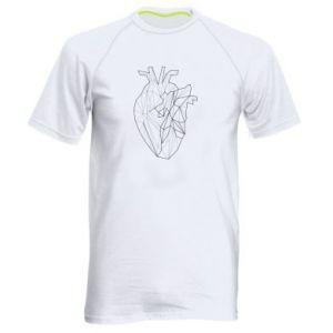 Męska koszulka sportowa Heart line