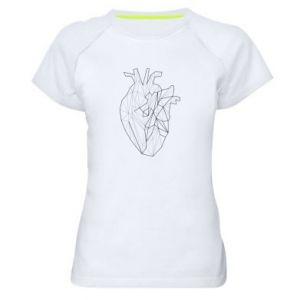 Damska koszulka sportowa Heart line