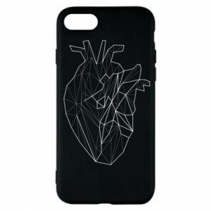 Etui na iPhone 7 Heart line