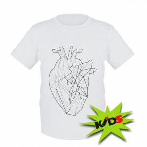 Kids T-shirt Heart line