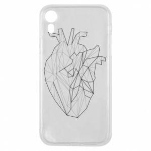 Etui na iPhone XR Heart line