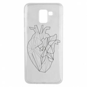 Etui na Samsung J6 Heart line