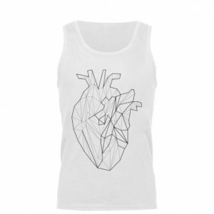Męska koszulka Heart line