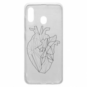 Etui na Samsung A20 Heart line