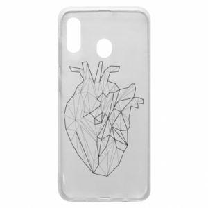 Etui na Samsung A30 Heart line