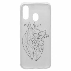 Etui na Samsung A40 Heart line