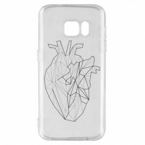 Etui na Samsung S7 Heart line