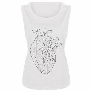 Damska koszulka bez rękawów Heart line