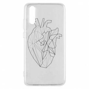 Etui na Huawei P20 Heart line