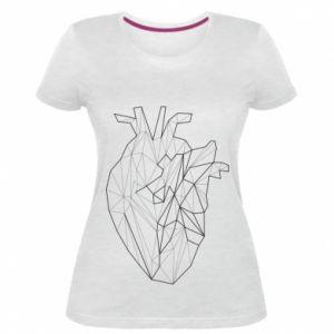Damska premium koszulka Heart line